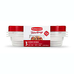 Rubbermaid® TakeAlongs® 3-Count Rectangle Food Containers with Lids