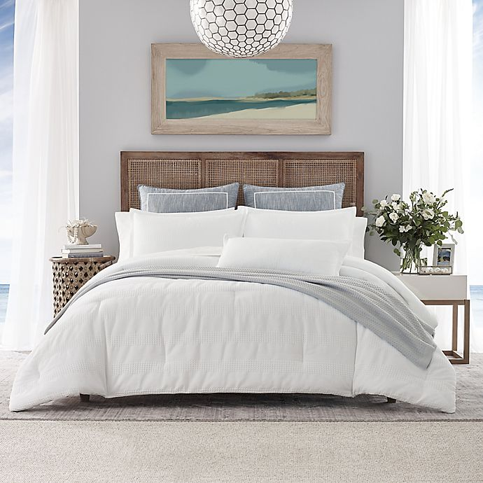 Alternate image 1 for Nautica® Hampton 3-Piece Reversible Comforter Set in White
