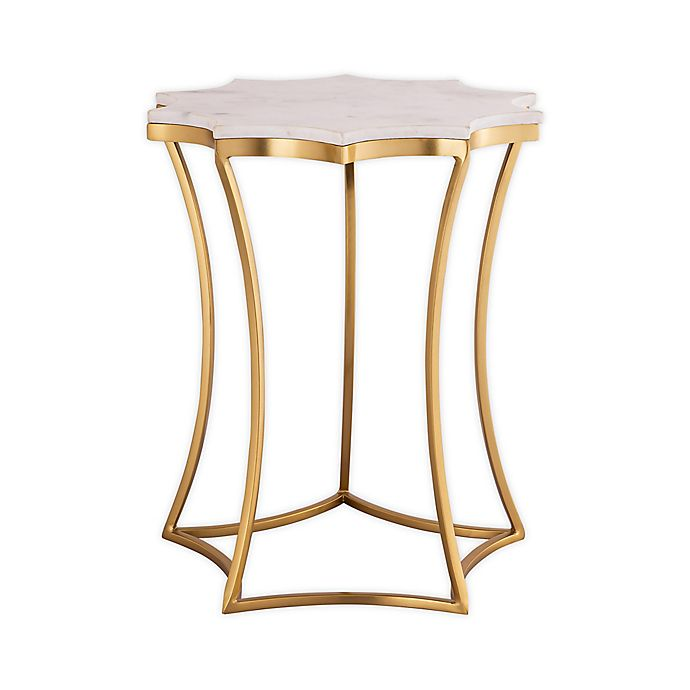 Alternate image 1 for TOV Furniture Camilla Marble Side Table in Gold