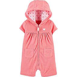 carter's® Heart Hooded Romper in Pink