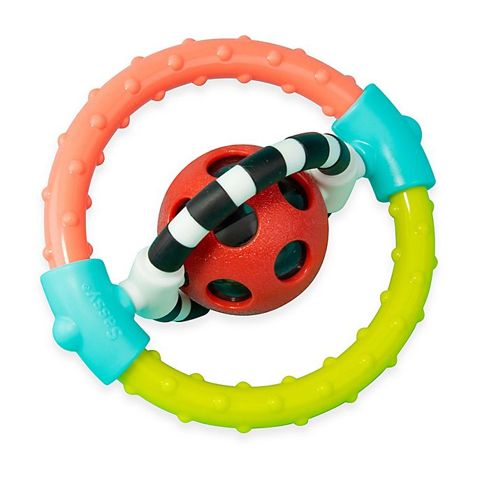 Alternate image 1 for Sassy Spin & Chew Flexible Ring Rattle