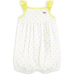 carter's® Polka Dot Watermelon Romper in Yellow/White