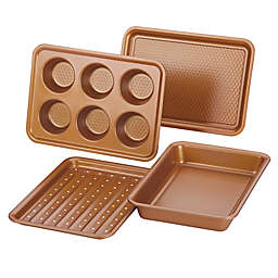 Ayesha™ Bakeware 4-Piece Toaster Oven Baking Set in Copper