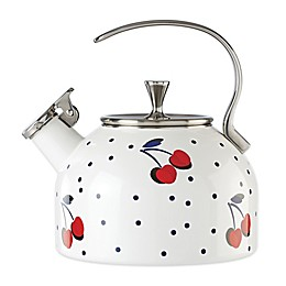 kate spade new york Vintage Cherry Dot 2.5 qt. Tea Kettle in White/Red