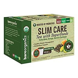 BareOrganics® Slim Care Oolong Tea Pods for Single Serve Coffee Makers 12-Count