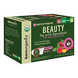 BareOrganics® Beauty Green Tea Pods for Single Serve Coffee Makers 12-Count