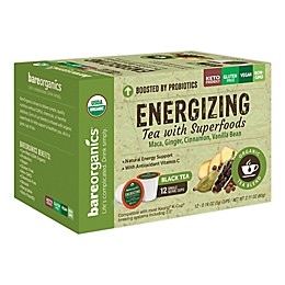 BareOrganics® Energizing Black Tea Pods for Single Serve Coffee Makers 12-Count