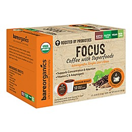 BareOrganics® Focus Coffee Pods for Single Serve Coffee Makers 12-Count