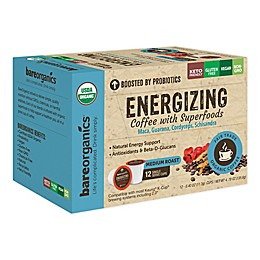 BareOrganics® Energizing Coffee Pods for Single Serve Coffee Makers 12-Count