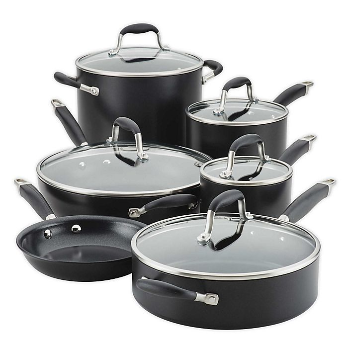 Alternate image 1 for Anolon Advanced Home 11-Piece Cookware Set Onyx