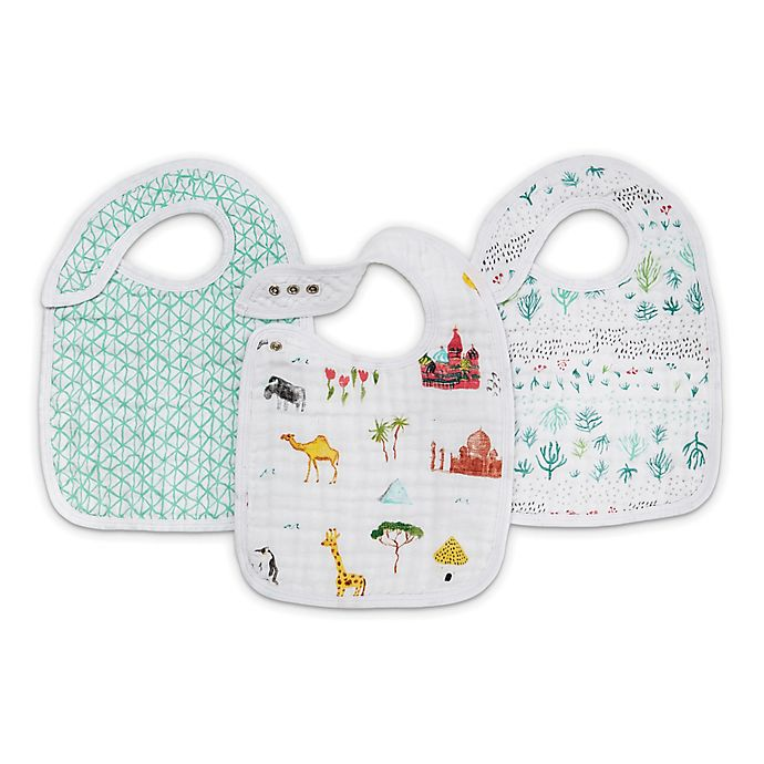 Alternate image 1 for aden + adais® 3-Pack World Snap Bibs