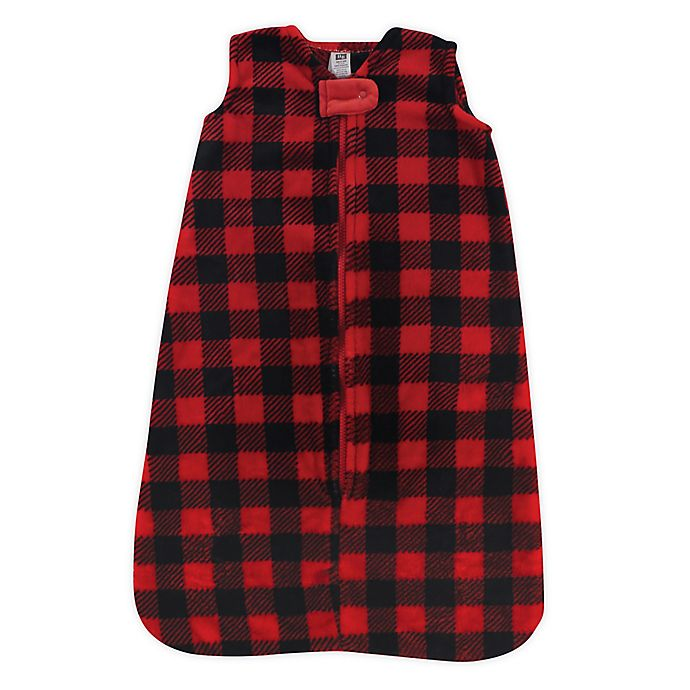 Alternate image 1 for Hudson Baby® Size 0-6M Buffalo Plaid Sleeping Bag in Red