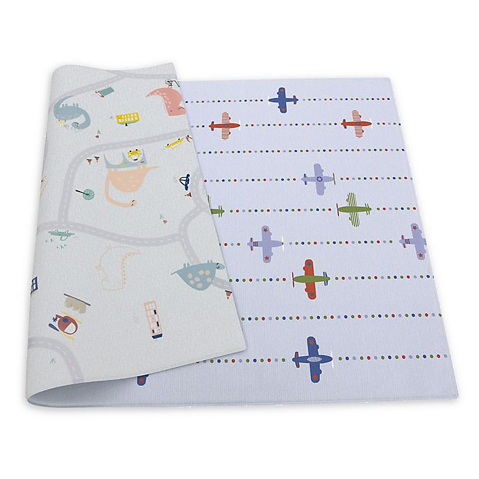 Alternate image 1 for BABY CARE™ Air Show Play Mat in White