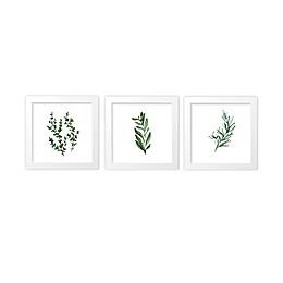 goumi® 3-Piece Botanical Framed Wall Art Set in White