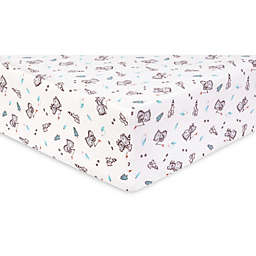 Trend Lab® Gone Fishing Deluxe Flannel Fitted Crib Sheet