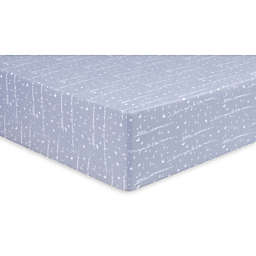 Trend Lab® Little Dreamer Jersey Weave Fitted Crib Sheet in Blue
