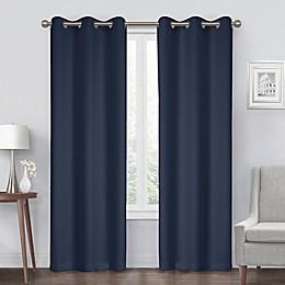 Diamond Grommet Blackout Window Curtain Panel