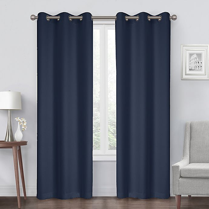Alternate image 1 for Diamond Grommet Blackout Window Curtain Panel