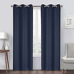 Diamond Grommet Blackout Window Curtain Panel