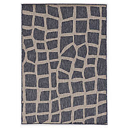 "KAS Provo Bedrock 7'10"" x 10'10"" Indoor/Outdoor Area Rug in Blue/Grey"
