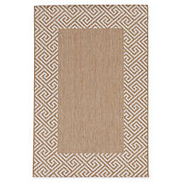 KAS Provo Greek Key 7'10 x 10'10 Indoor/Outdoor Area Rug in Natural