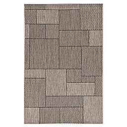 KAS Provo Gates 3'3 x 4'11 Indoor/Outdoor Accent Rug in Grey
