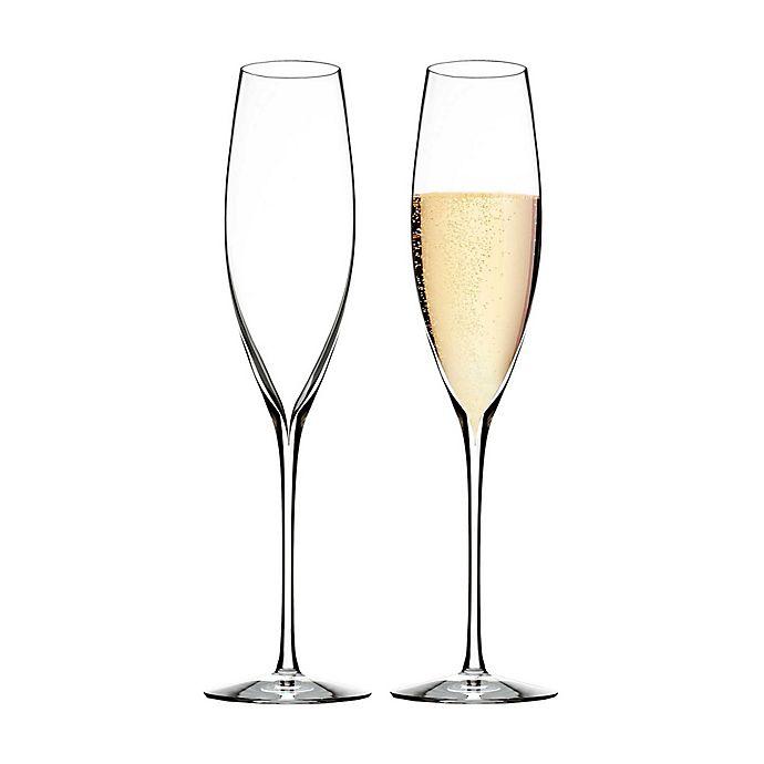 Alternate image 1 for Waterford® Elegance Champagne Flutes (Set of 2)
