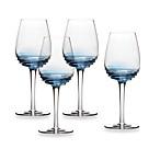 Mikasa® Swirl White Wine Glasses in Cobalt (Set of 4)