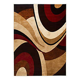 """Tribeca Rug 6'7"""" X 9'10"""" Brown/Red"""