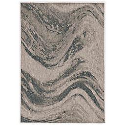 KAS Provo Strokes 7'10 x 10'10 Area Rug in Grey