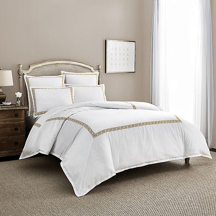 Alternate image 1 for Wamsutta® Muriel PimaCott® Embroidered European Pillow Sham in White