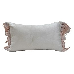 Wamsutta® Vintage Double Ruffle Oblong Throw Pillow in Blush