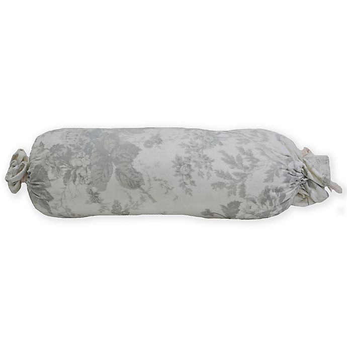 Alternate image 1 for Wamsutta® Vintage Floral Bolster Indoor/Outdoor Throw Pillow in Grey