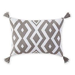 Bridge Street Parker Oblong Throw Pillow in Grey