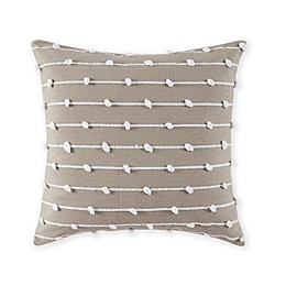 Bridge Street Parker Square Throw Pillow in Taupe