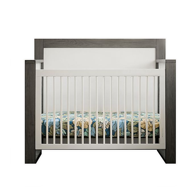Alternate image 1 for Milk Street True 4-in-1 Convertible Crib in Grey Mud/ Snow White