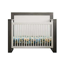 Milk Street True 4-in-1 Convertible Crib in Grey Mud/ Snow White