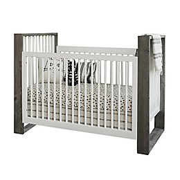 Milk Street True Traditional 3-in-1 Convertible Crib in Grey Mud/ Snow White