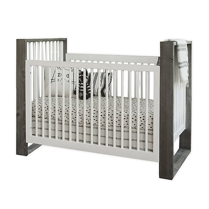 Alternate image 1 for Milk Street True Traditional 3-in-1 Convertible Crib in Grey Mud/ Snow White