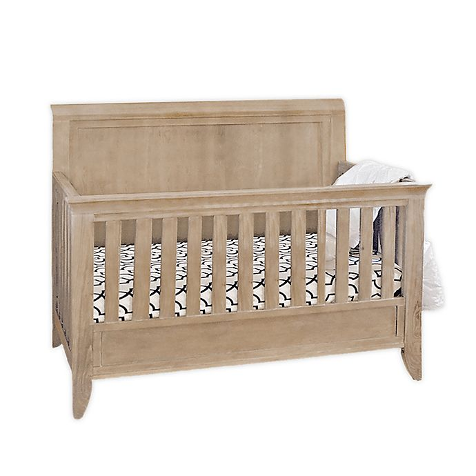 Alternate image 1 for Milk Street Baby Cameo Sleigh 4-in-1 Convertible Crib in Natural Toast