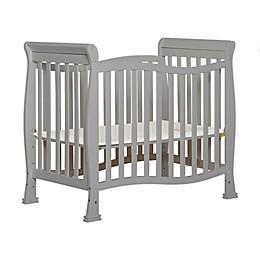 Dream on Me Piper 4-in-1 Convertible Mini Crib in Pebble Grey