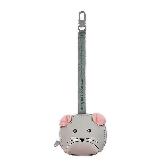 Alternate image 1 for TWELVElittle Year of the Mouse Pacifier Pouch in Smoke Grey