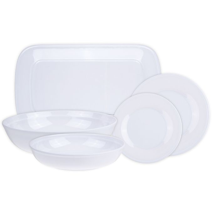 Alternate image 1 for Glazed Melamine Dinnerware and Serveware Collection