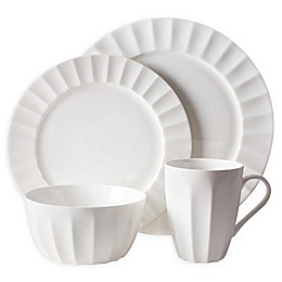 Nevaeh White® by Fitz and Floyd® Fluted Dinnerware Collection