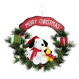 """Peanuts™ 18-Inch Snoopy and Woodstock """"Merry Christmas"""" Wreath"""