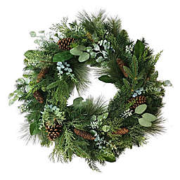 Bee & Willow™ Home 30-Inch Faux Pine and Pinecone Wreath in Green