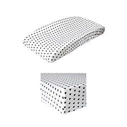 Copper Pearl Premium™ Smitten Fitted Crib Sheet in White/Black