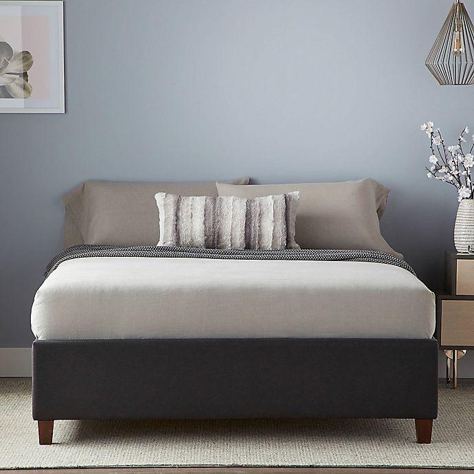 Alternate image 1 for Dream Collection™ by LUCID® King Upholstered Platform Bed Frame in Graphite