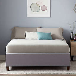 Dream Collection™ by LUCID® California King Upholstered Platform Bed Frame in Slate Grey