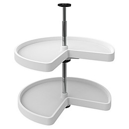 Rev-A-Shelf® Kidney Shaped 2-Shelf Lazy Susan in White